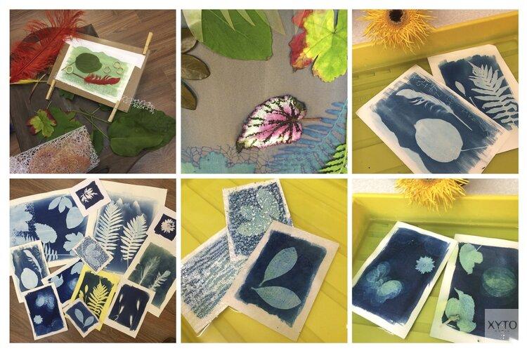 Inloop Workshop Cyanotypie (fotogrammen) voor kinderen