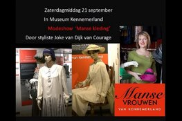 Modeshow'Manse vrouwen'.