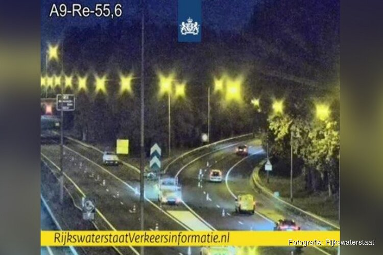 A9 bij Beverwijk dicht: 'Omrijden via Velsertunnel'