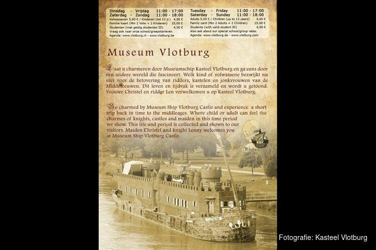 Kasteelschip ligt nu in Beverwijk