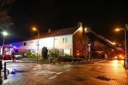 Zolderbrand bij woning aan de Spaarnestraat Beverwijk
