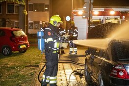 Autobrand aan de Schuurmanstraat Beverwijk