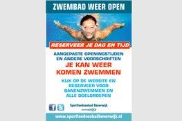 Sportfondsenbad Beverwijk start woensdag 20 mei met beperkte openingstijden