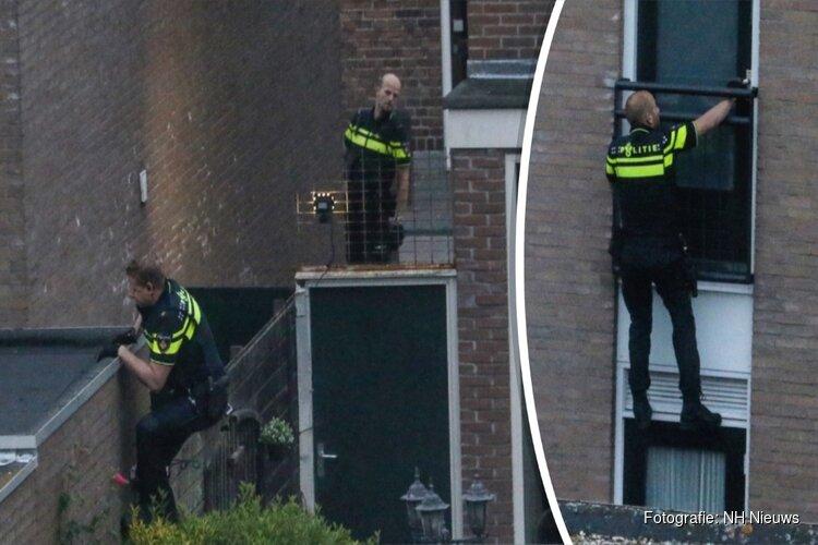 Politie klimt woning in Beverwijk binnen na 'gekreun en geschreeuw'