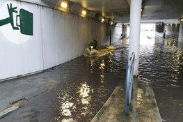 Regenval veroorzaakt wateroverlast in Beverwijk