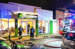 Brand in werkplaats van scootershop in Beverwijk