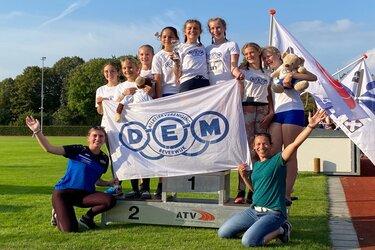 DEM meisjes succesvol in de C en D finale van de competitie
