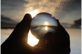 Fotograferen door een glazen bol