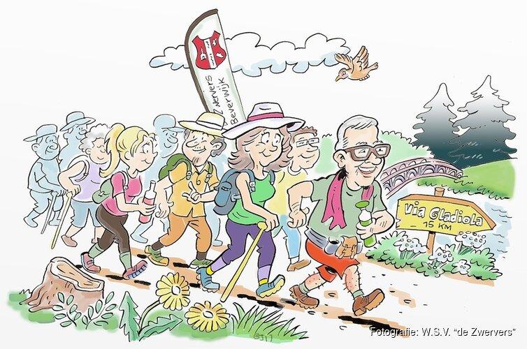 """50ste  DUINENTOCHT van WSV """"de Zwervers"""" op zaterdag 30 maart en zondag 1 april."""