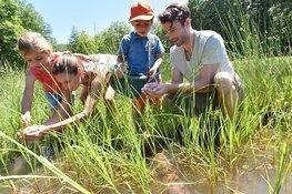 Waterdiertjes zoeken bij kinderboerderij de Baak