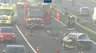 File op A9 in beide richtingen na ongelukken