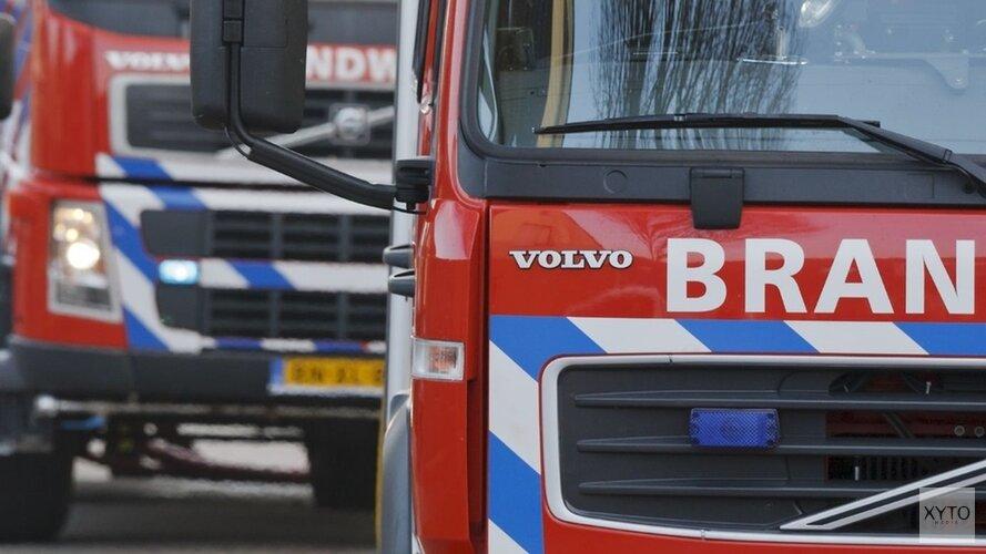 Caravan vat vlam in Heemskerk