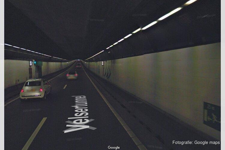Velsertunnel gedeeltelijk dicht na ongeluk met vrachtwagen