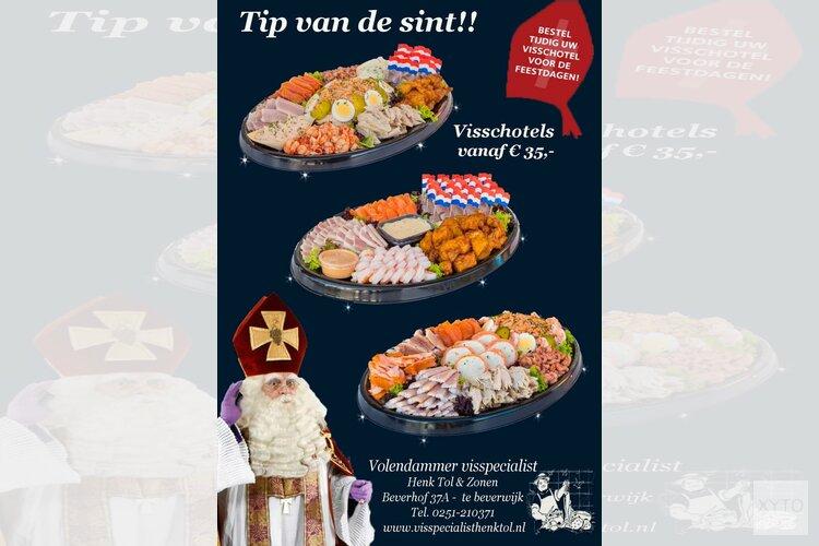 Tip van de sint bij Volendammer visspecialist Henk Tol & Zonen