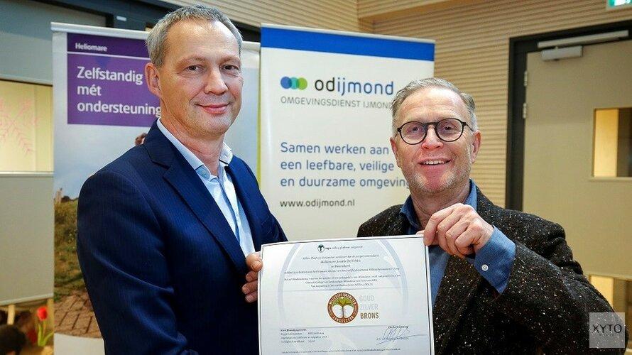 Heliomare ontvangt bronzen keurmerk van de Milieuthermometer Zorg